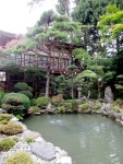 A Buddhist monk invited me in to see the garden.