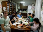 Dinner with my home stay family