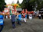 The mikoshi for foreigners to carry...pretty lame