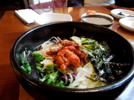 Bibimba, a traditional Korean dish