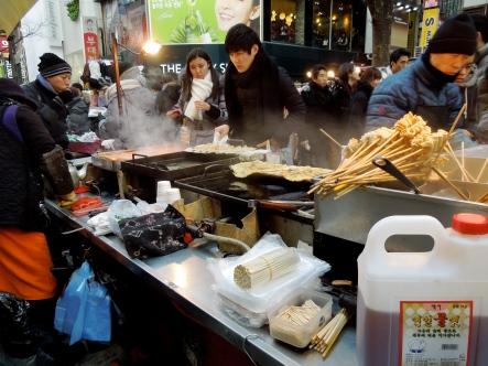 Korean pancakes. Very greasy.