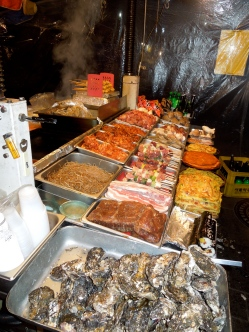 More street food. Make sure to check the prices ahead of time. I was ripped off here, and paid $20.
