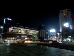 Empty streets at night