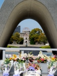 The Eternal Flame at Hiroshima Peace Memorial Park. The flame will burn until the world is free of nuclear weapons.
