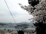 Looking out onto Onomichi Harbor.