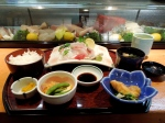 Sushi set for lunch on Omishima Island.